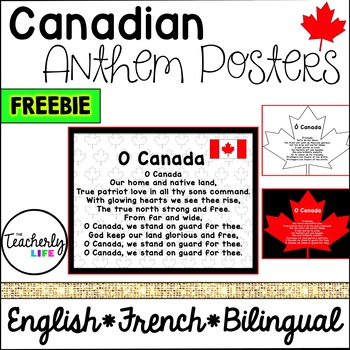 Canadian Anthem in English, French & Bilingual