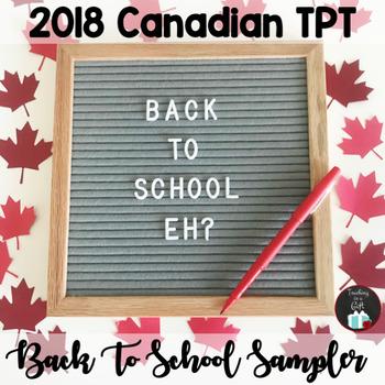 Canadian Back To School SAMPLER 2018