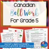 Canadian Bell Work | for Grade 5