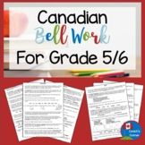 Canadian Bell Work for Grade 5/6