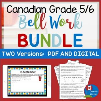 Canadian Bell Work for Grade 5/6 BUNDLE