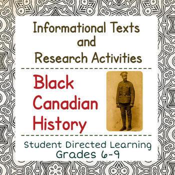 Canadian Black History BUNDLE of 3 Resources