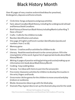 Canadian Black History Lesson Plans