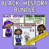 Black History Month in Canada Activities BUNDLE