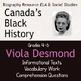 Canadian Black History VIOLA DESMOND Differentiated BUNDLE