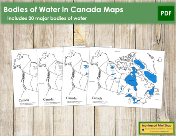 Canadian Bodies of Water - Maps