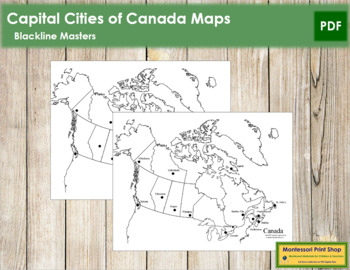 Canadian Capital Cities Map