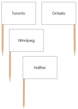 Canadian Capital Cities - Pin Map Flags