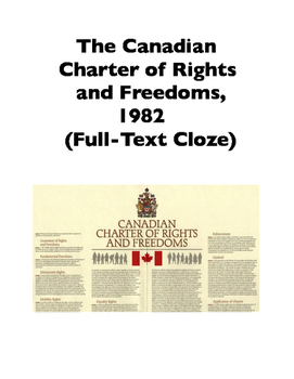 Canadian Charter of Rights and Freedoms, 1982 (Full-Text Cloze)
