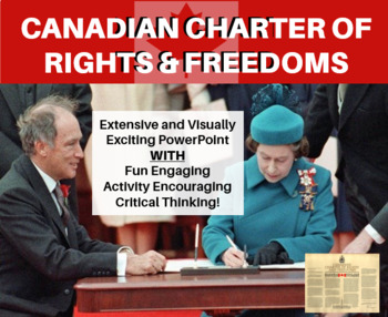 Canadian Charter of Rights and Freedoms - Extensive PowerPoint & Activity