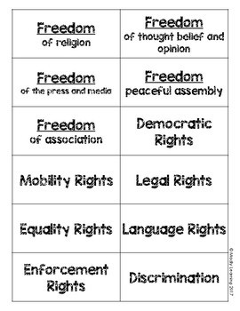 SOCIAL STUDIES: Canadian Charter of Rights and Freedoms Interactive Lesson