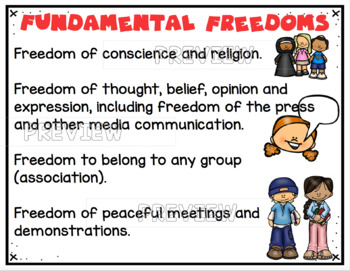 Canadian Charter of Rights and Freedoms ~ Posters