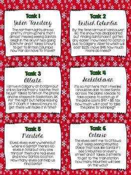 Canadian Christmas Math Challenge