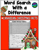Canadian Christmas Word Search