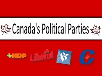 Canadian Politics Bundle - Political Parties PPT, Twitter Debate and more!