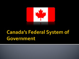 Canadian Civics:  Canada's Federal System of Government