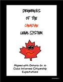 Canadian Civics: Drawbacks of a Democratic Legal System