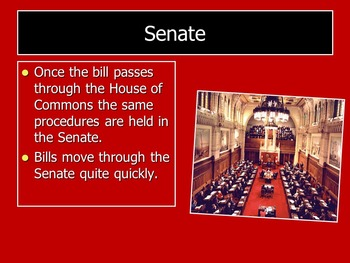 """Canadian """"Bill to Law"""" Powerpoint:  Clearly Organized for Teacher and Student"""