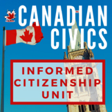 Canadian Civics Unit: Understanding how Government Functio