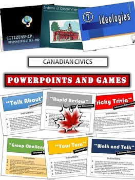 Canadian Civics Unit: Purposeful Citizenship - Packages, PPTs, Projects and More