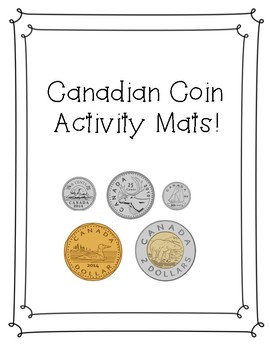 Canadian Coin Activity Mats