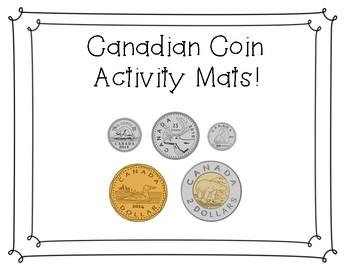 Canadian Coin Activity Mats Sample
