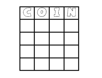 Canadian Coin Bingo
