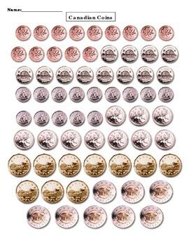 Canadian Coin Cutouts
