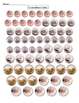 Canadian Coin Cutouts