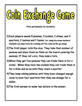 Canadian Coin Exchange Game