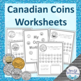 Canadian Coin Names & Values Worksheets / Workbook