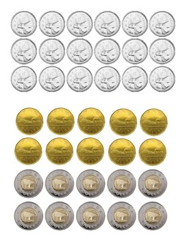 image relating to Printable Coins identified as Canadian Coin Printable