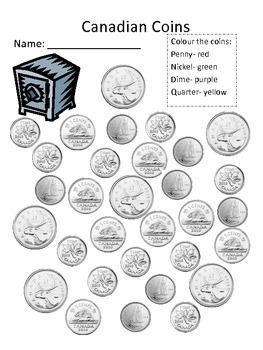 canadian coin recognition by kristen hinnegan teachers pay teachers. Black Bedroom Furniture Sets. Home Design Ideas