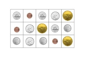 Canadian Coin Sorting Chart