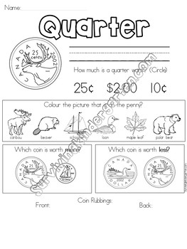 Canadian Coin-Worksheets