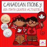 Canadian Coins Money Math Bundle; Math Centers, Worksheets