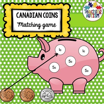 Canadian Coins Piggy Bank Matching