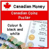 CANADIAN Coins Poster - No pennies! - Colour and Black and