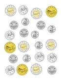 Canadian Coins: Scattered Sheet