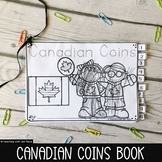 Money - Canadian Coins Kindergarten Interactive Booklet