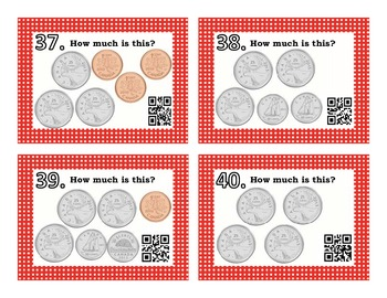 Canadian Coins Task Cards