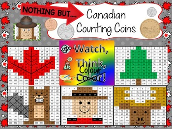 Canadian Coins - Watch, Think, Color Mystery Pictures