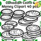 Canadian Coins and Money Clip Art Set Commercial and Personal Use