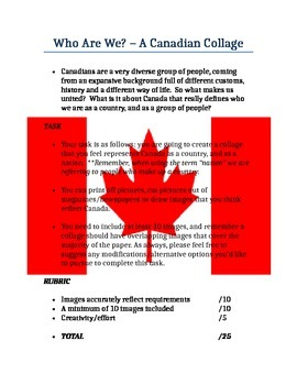 Canadian Collage Handout