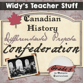 Canadian Confederation - Grade 8 History Differentiated Assignments