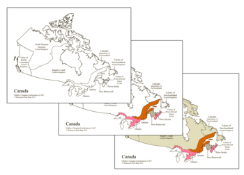 Canadian Confederation of 1867 - Maps