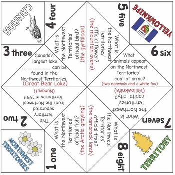 Canadian Cootie Catchers: the provinces and territories of Canada