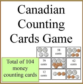Canadian Counting Coins Cards