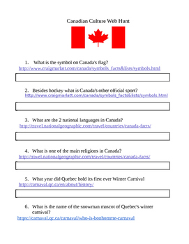 Canadian Culture Web Search