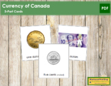 Canadian Currency: 3-Part Cards